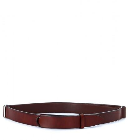 Cintura Orciani in pelle color marrone cuoio