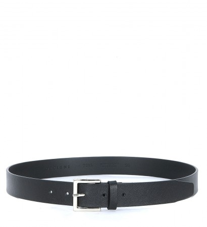 Cintura Orciani in pelle saffiano nero