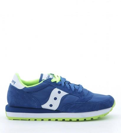 Sneakers Saucony Jazz O in suede e nylon bluette