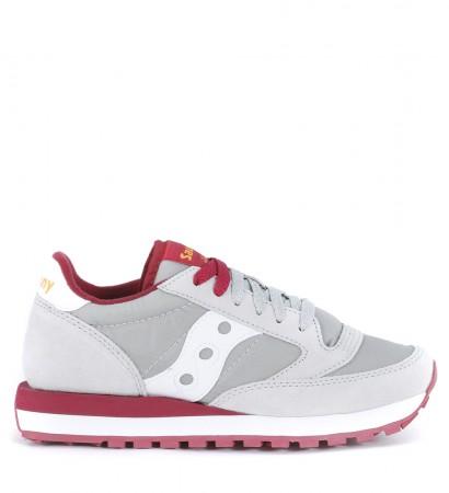 Sneaker Saucony Jazz in suede e nylon grigio chiaro