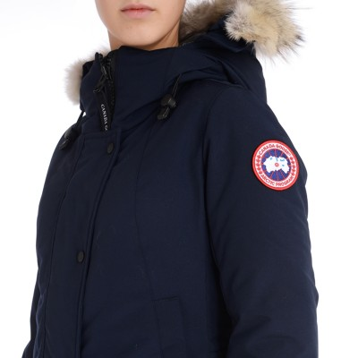 Laterale Parka Canada Goose Sherbrooke color blu navy