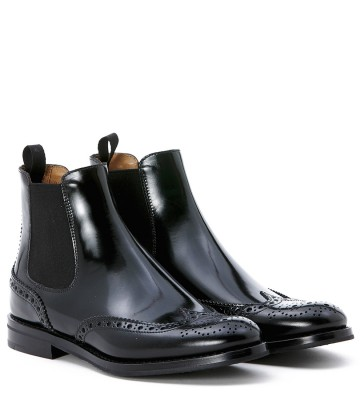 Laterale Church's Beatle-Boots Mod. Ketsby aus Leder in Schwarz
