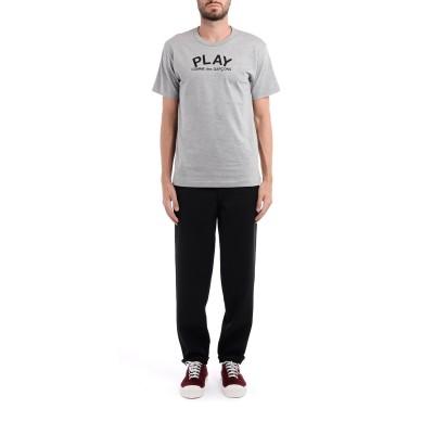 Laterale T-Shirt Comme Des Garçons Play in grauer Baumwolle mit Logo