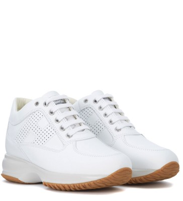 Laterale Hogan Sneaker Interactive in Leder Weiss