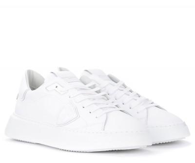 Laterale Sneaker Philippe Model Temple L in pelle bianca
