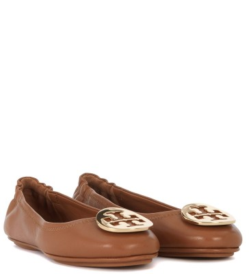 Laterale Ballerina Tory Burch Minnie Travel in nappa cuoio