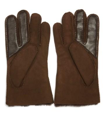 Laterale Ugg Handschuhe Braun Wildleder