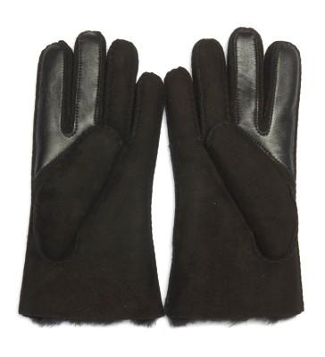 Laterale Ugg Handschuhe Schwarz Wildleder
