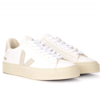 Laterale Sneaker Veja Campo Chromefree in Leder Weiss