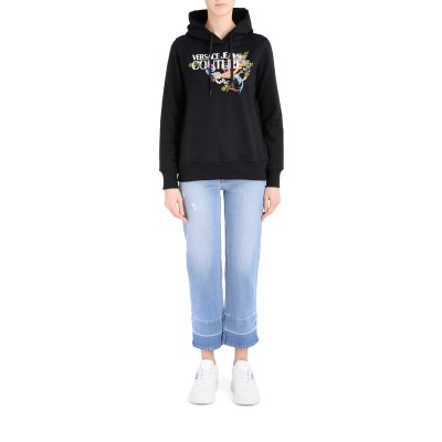 Laterale Versace Jeans Couture Kapuzen-Sweater mit Tuileries Logo