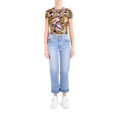 Laterale Versace Jeans Couture Jeans in Denim Hellblau