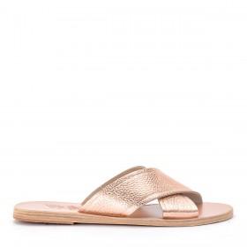Ancient Greek Sandals Slippers Thais aus Rosa Leder