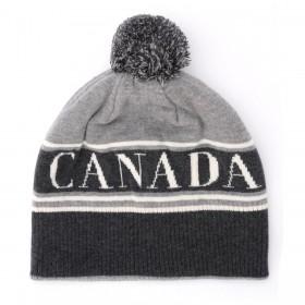 Canada Goose graue Wollmütze mit Pompon