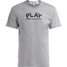 T-Shirt Comme Des Garçons Play in grauer Baumwolle mit Logo