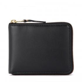 Comme Des Garçons Portemonnaie Wallet in schwarzem Leder