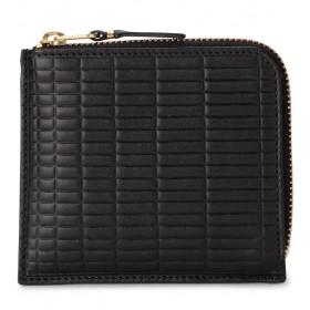 Comme Des Garçons Portemonnaie Wallet Brick Line in Leder Schwarz