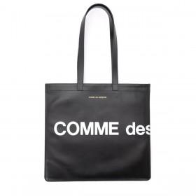 Comme Des Garçons Shopper Wallet Huge Logo in Leder Schwarz