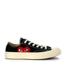 Comme des Garçons Sneakers Play x Converse in Canvas Schwarz