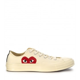 Comme des Garçons Sneakers Play x Converse in Canvas Beige