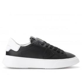 Sneaker Philippe Model Temple in schwarzem Leder