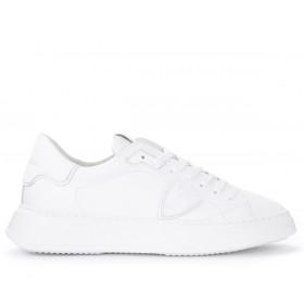 Philippe Model Sneaker Temple L in weißem Leder