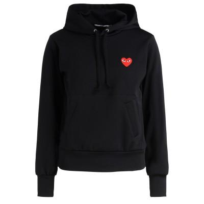 Comme Des Garçons Play Sweater Schwarz mit rotem Herz