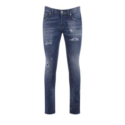 Jeans Dondup Richie color blu con rotture