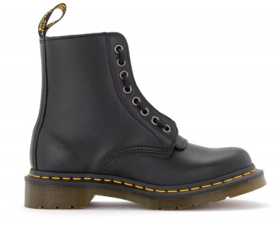 Anfibio Dr Martens Pascal in pelle nera con zip frontale