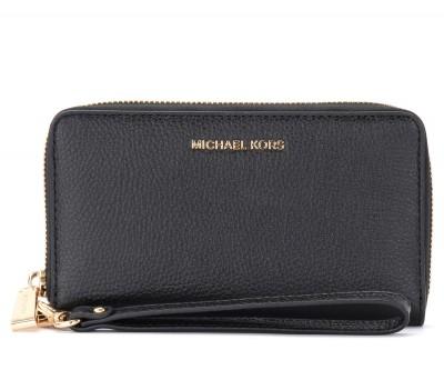 Portafoglio da polso Michael Kors nero con porta smartphone