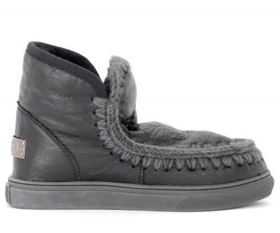 Stivaletto Mou Mini Eskimo Sneaker in montone cracklè nero