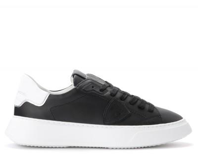 Sneaker Philippe Model Temple in pelle nera