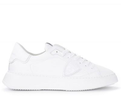 Sneaker Philippe Model Temple L in pelle bianca