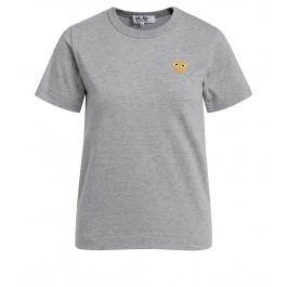 T-shirt Comme des Garçons Play col rond gris