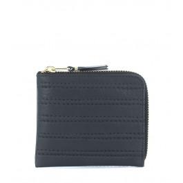 Pochette rectangulaire Comme Des Garçons Wallet en cuir noir
