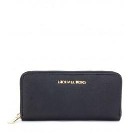 Portefeuille Michael Kors en cuir soffiano noir