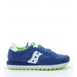 Sneakers Saucony Jazz O en daim suédé et nylon bluette