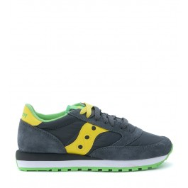 Sneakers Saucony Jazz O en daim et nylon gris anthracite