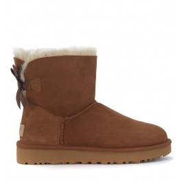 Demi-botte Ugg Bailey Mini en chamois brun cuir avec flocon