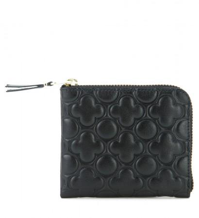 Portefeuille Comme des Garçons wallet en cuir noir