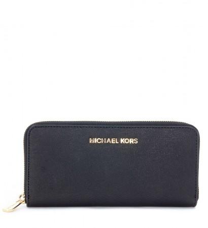 Portafoglio Michael Kors in pelle saffiano nero