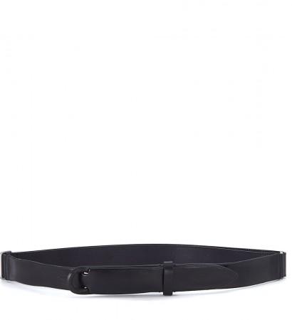 Cintura Orciani in pelle nera