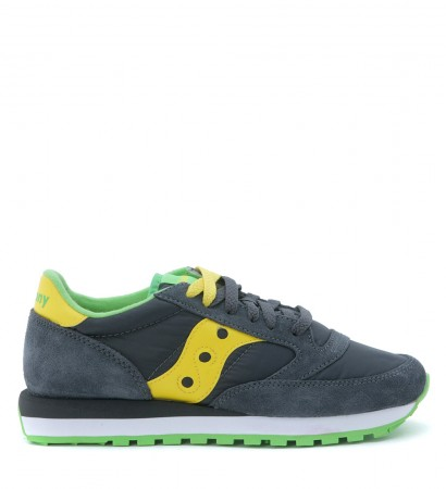 Sneakers Saucony Jazz O in suede e nylon antracite