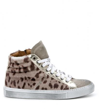 Sneaker Via Roma 15 in cavallino maculato tortora