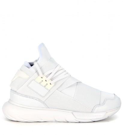 Sneaker Y-3 Qasa High in neoprene e pelle bianca
