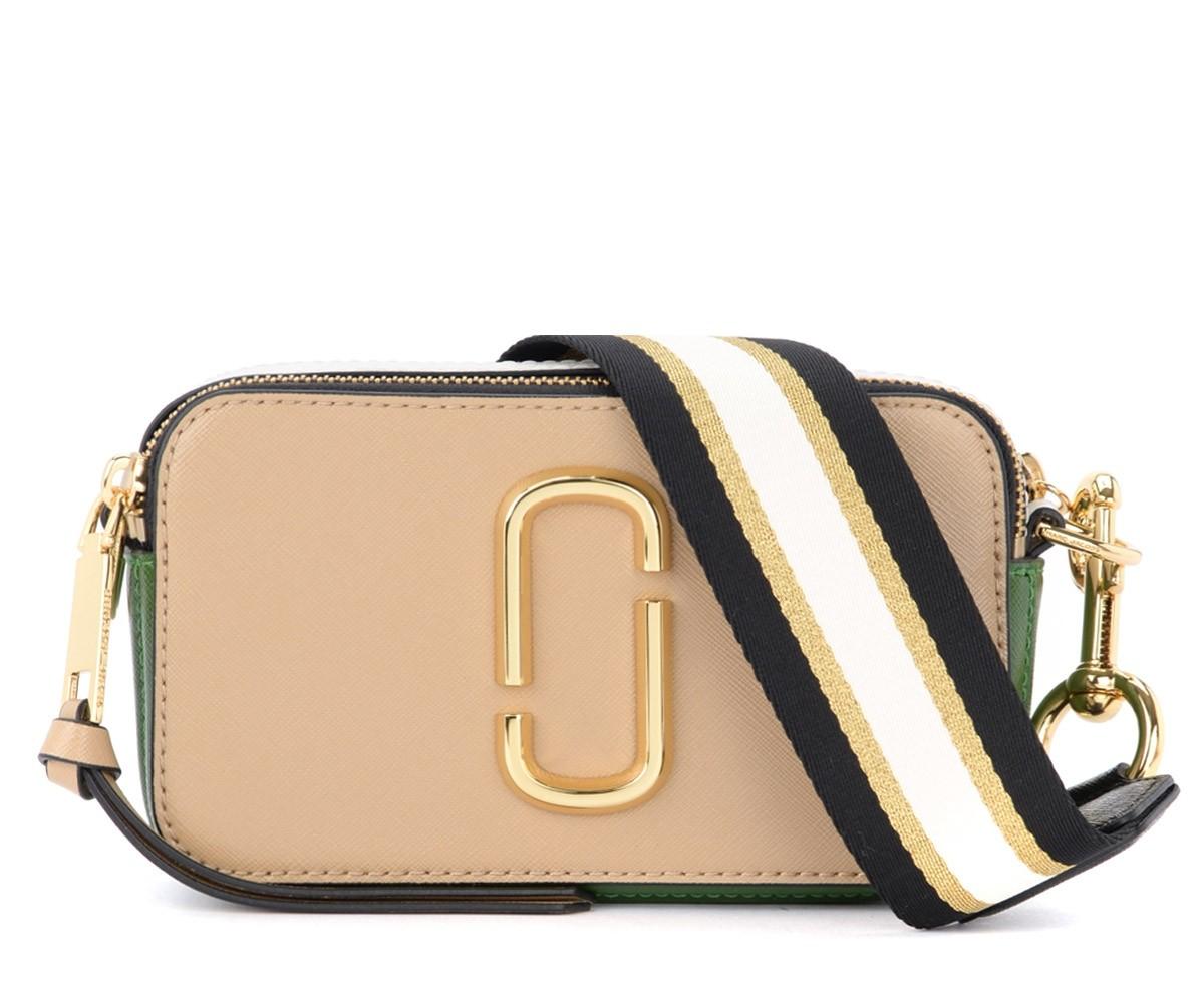 Sac The Marc Jacobs Snapshot Small Camera Bag beige et vert