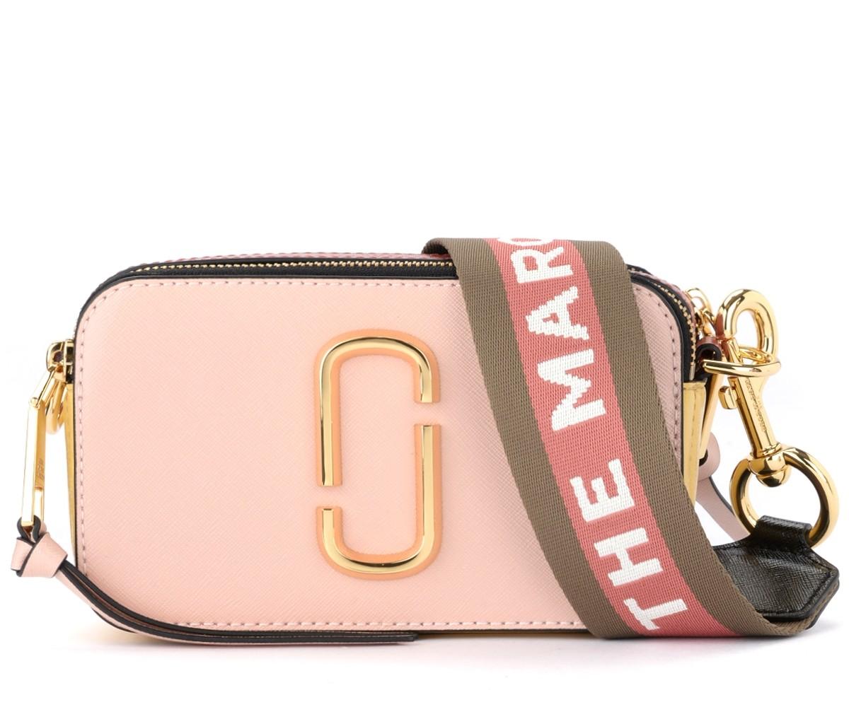 Sac à bandoulière The Marc Jacobs Snapshot rose