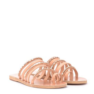 Laterale Sandale Ancient Greek Sandals Modèle Niki Diamonds en cuir
