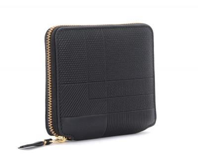 Laterale Portefeuille Comme Des Garçons Wallet Intersection en cuir noir