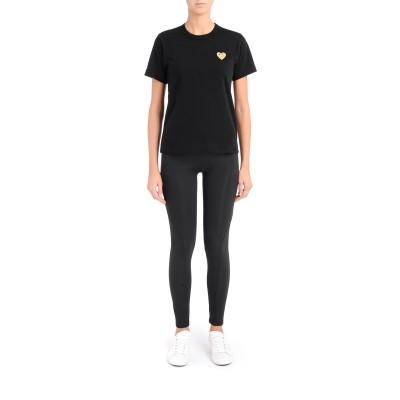 Laterale T-shirt Comme des Garçons Play col rond noir
