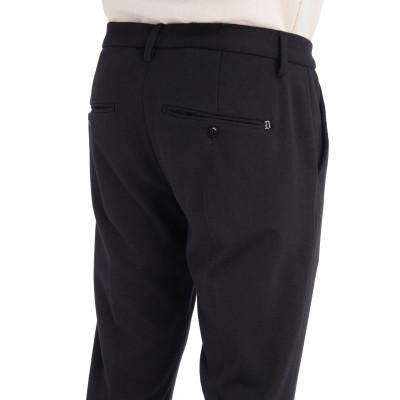 Laterale Pantalone slim Dondup Gaubert a microrighe blu